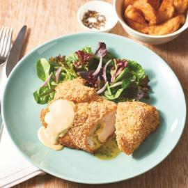 Chicken Kiev and Honey Mustard Sauce
