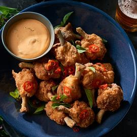 Chicken Lollipops with Red Curry Butter