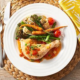 Chicken Maryland, Seasonal Roasted Vegetables
