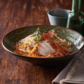 Chicken Sushi Salad with Miso Vinaigrette