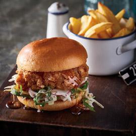 Fried Buttermilk Chicken Burger with Honey Glaze