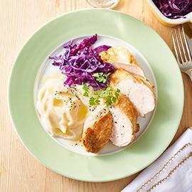 Grilled Chicken Breast, Cauliflower Puree