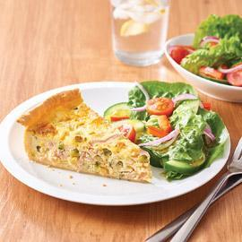 Ham, Zucchini and Corn Quiche