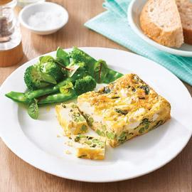 Pea, Feta and Spinach Frittata