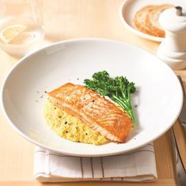 Roast Salmon with Corn Puree