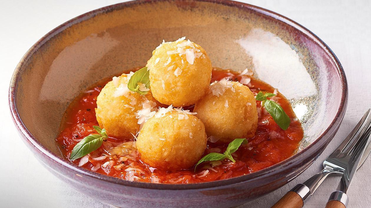 Arancini Balls, Tomato Relish – Recipe