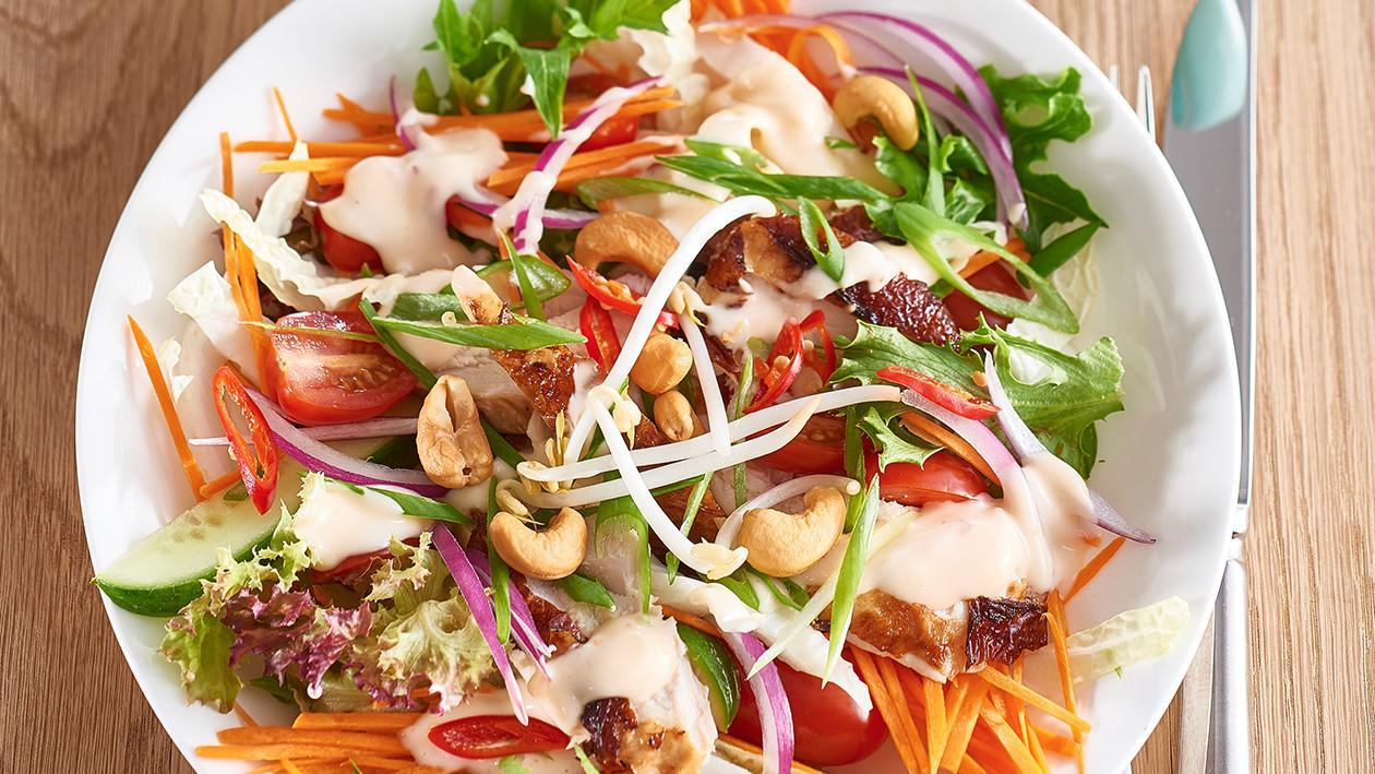 Asian Chicken Salad with Sweet Chili Lime Dressing ...