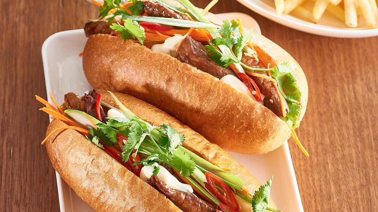 BBQ Beef Roll with Asian Salad and Garlic Mayo  – Recipe
