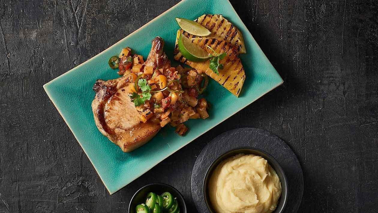 BBQ Pork with Smoked Pineapple Pico de Gallo – Recipe
