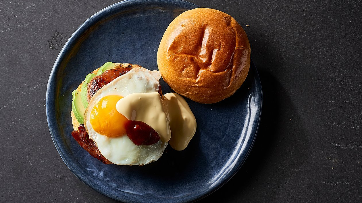 Besties Bacon & Egg Roll on Brioche – Recipe