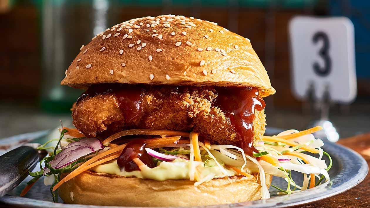 Chicken Katsu Sandwich, Smashed Ranch Avocado – Recipe