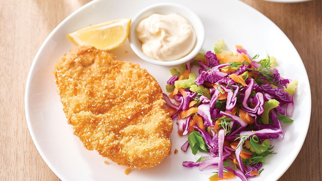 Chicken Schnitzel with Lemon Mayo – Recipe
