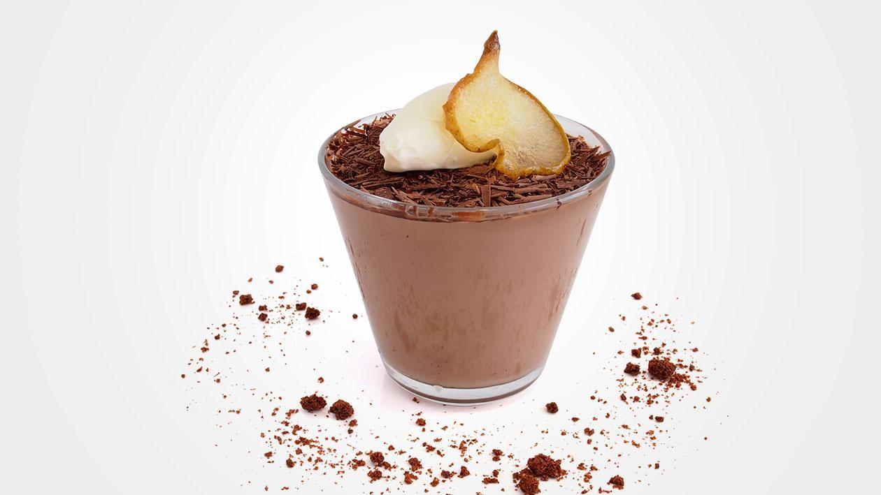 Chocolate Pannacotta with Pear Wafers – Recipe