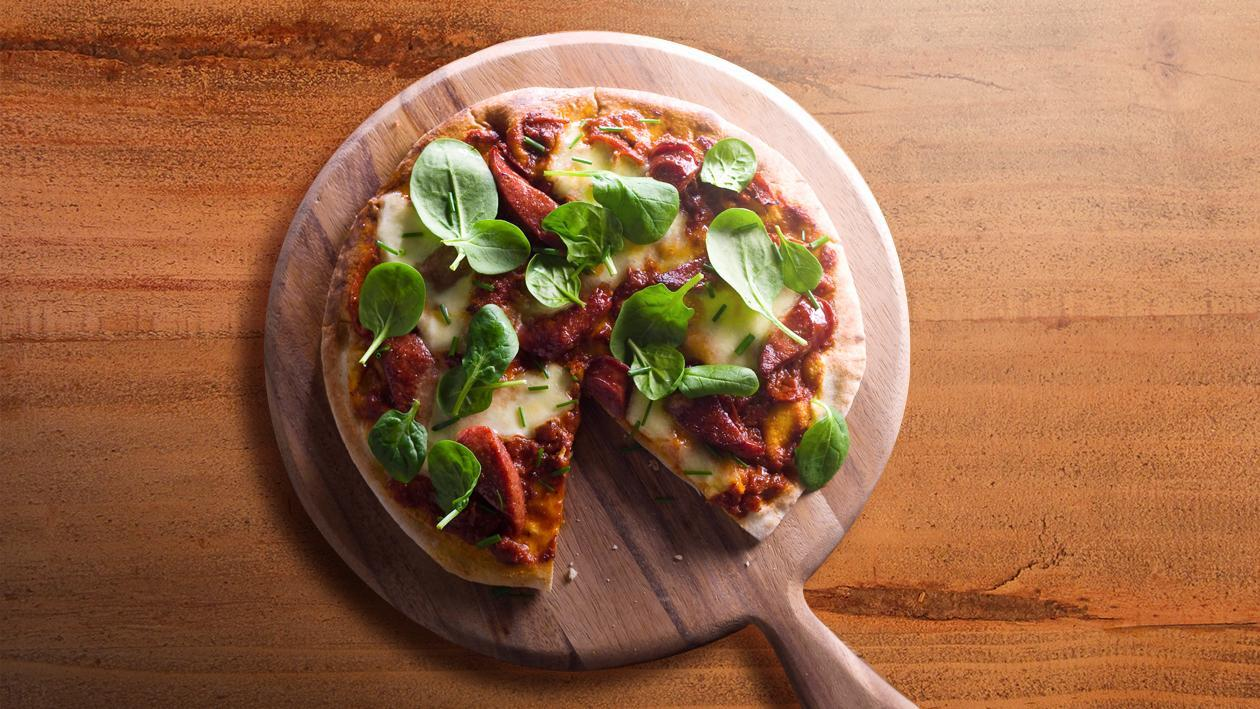 Chorizo and Mozzarella Pizza with Sundried Tomato – Recipe