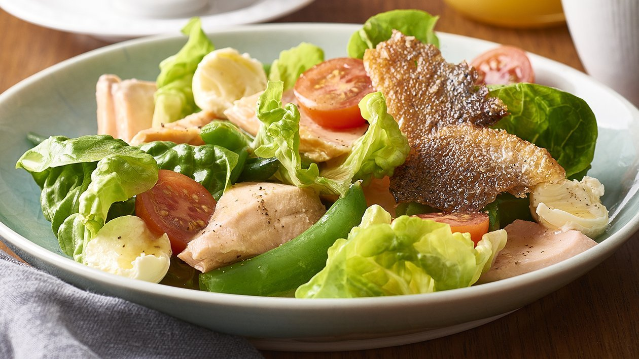 Citrus Poached Salmon Salad – Recipe