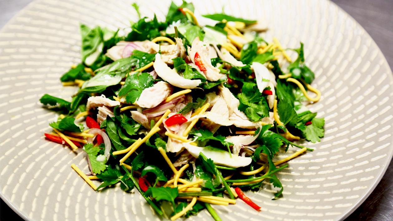 Coconut Chicken Salad with Crispy Noodles – Recipe