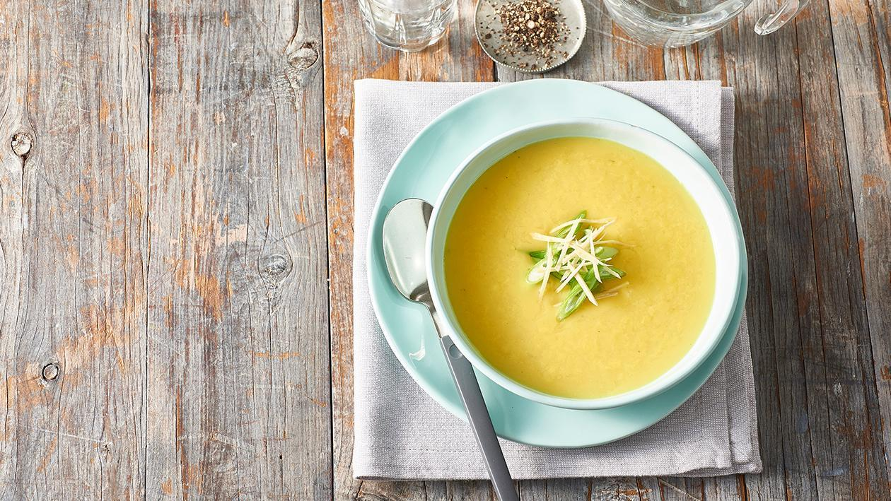 Cream of Chicken Soup with Turmeric, Ginger and Shallots – Recipe