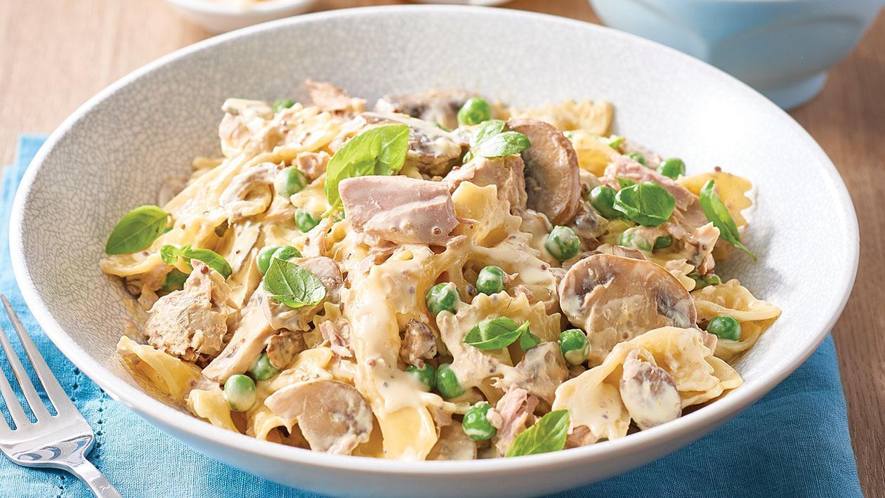 Creamy Pasta with Tuna, Peas and Mushrooms – Recipe