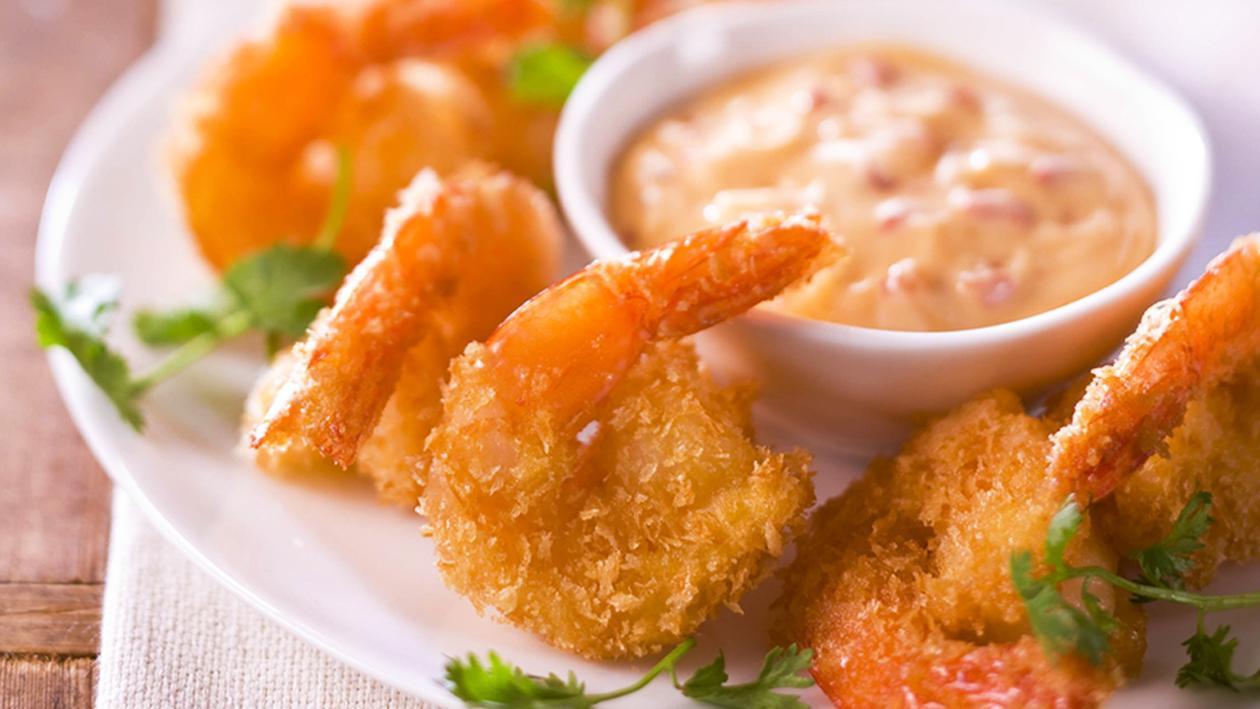 Crispy Fried Prawn Cutlets, Sweet Chilli Mayonnaise – Recipe