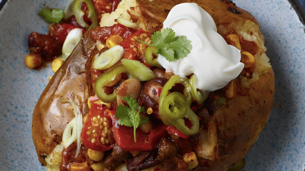 Crispy Mexican Jacket Potato – Recipe