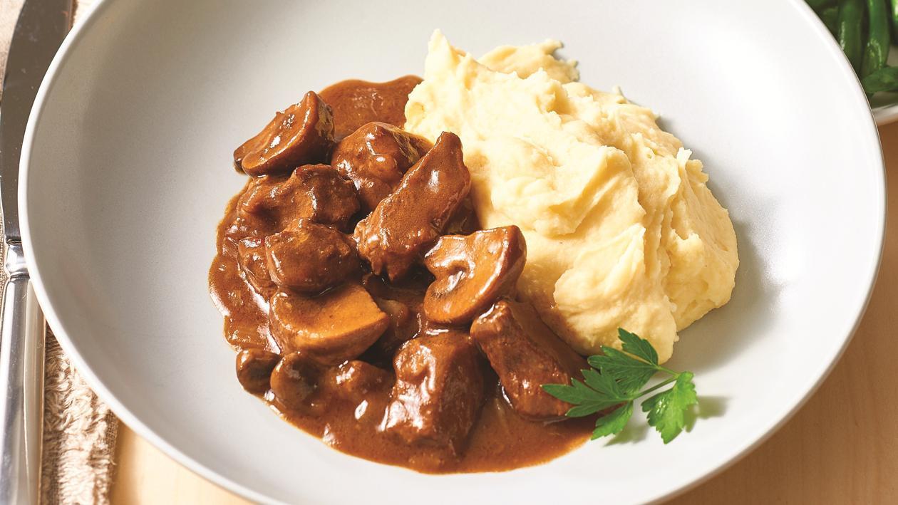 Diced steak and mushroom goulash recipe unilever food solutions diced steak and mushroom goulash recipe forumfinder Choice Image