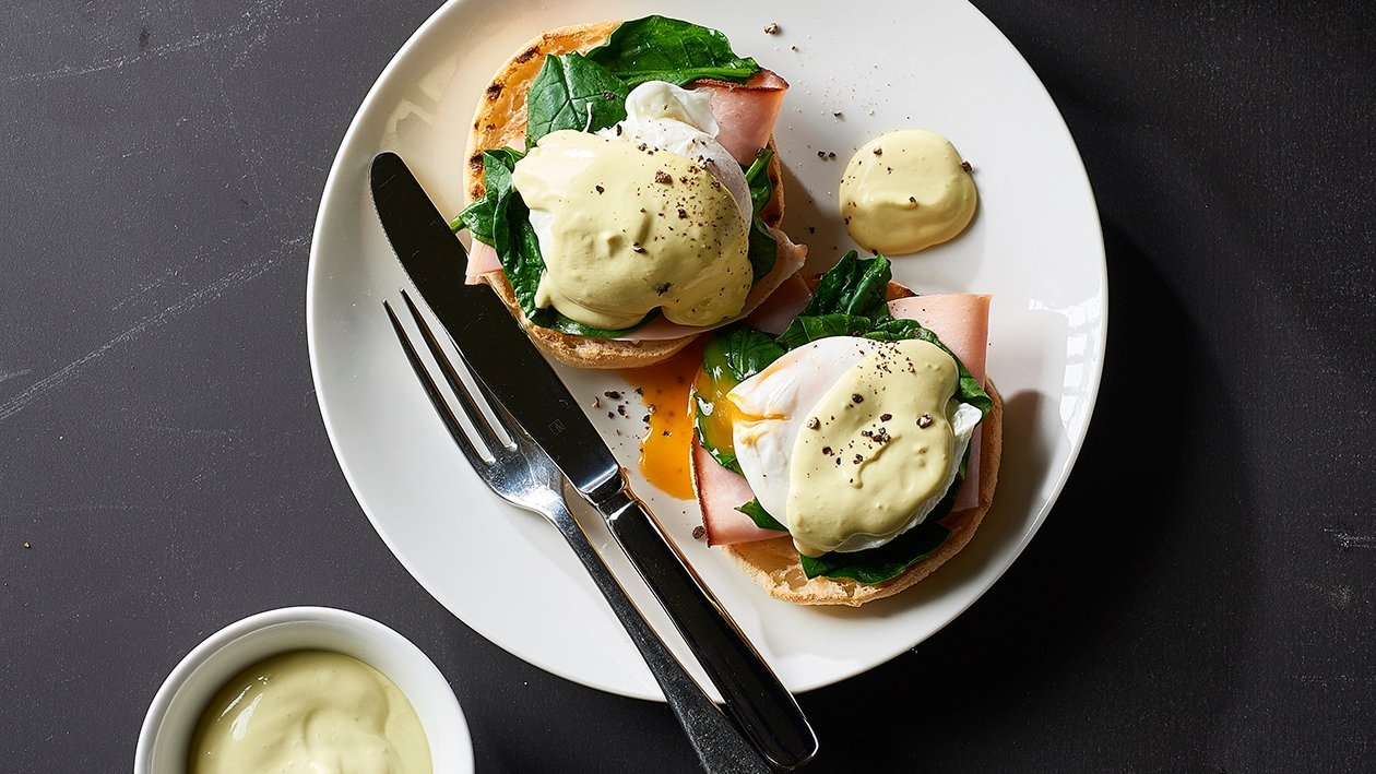 Eggs Benedict with Avocado Hollandaise – Recipe