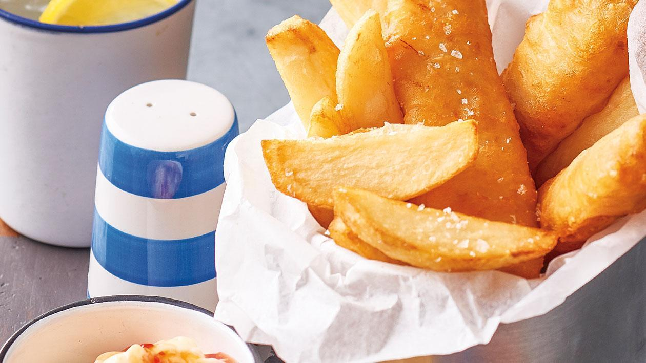 Fish and Chips with Sweet Chilli Mayonnaise – Recipe