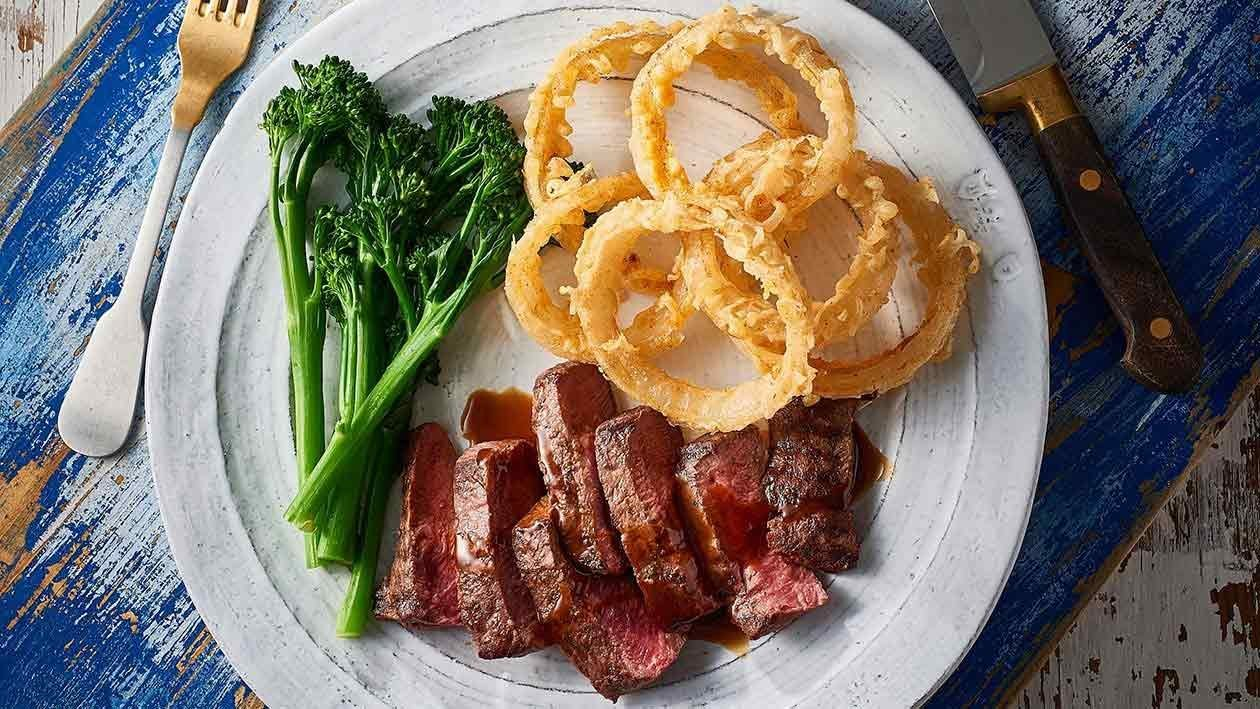 Flat Iron Steak, Paris Mash & Bourbon Jus – Recipe