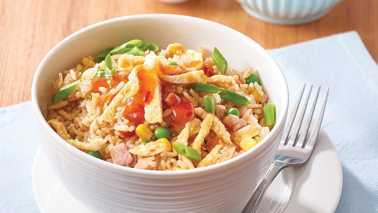 Fried rice with ham and vegetables – Recipe