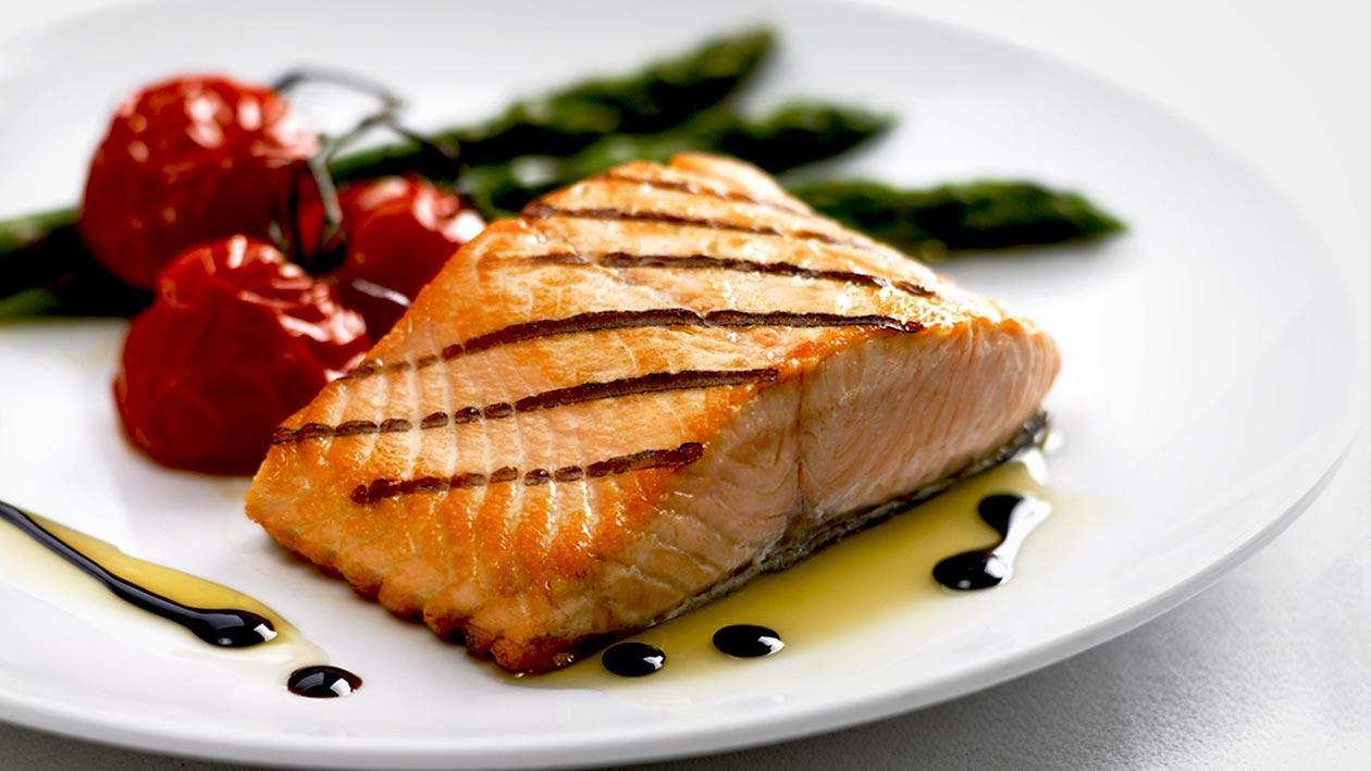Grilled Salmon, Balsamic Caramel – Recipe