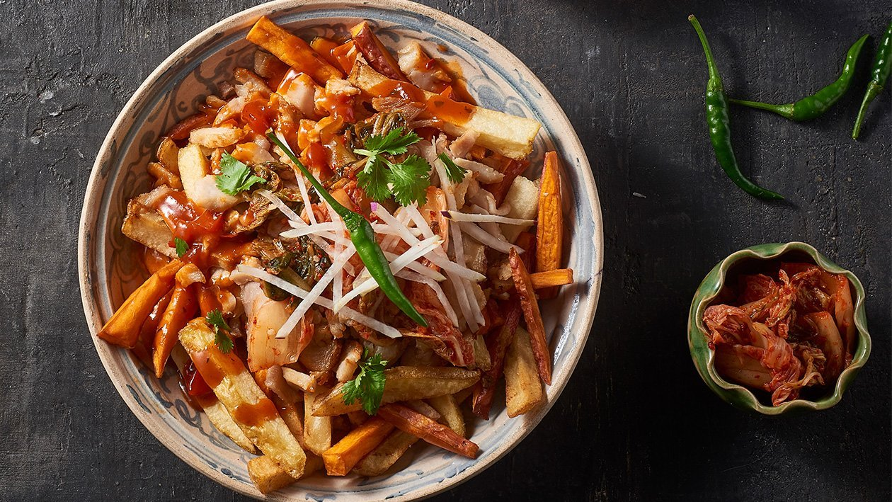 Kimchi loaded Fries – Recipe