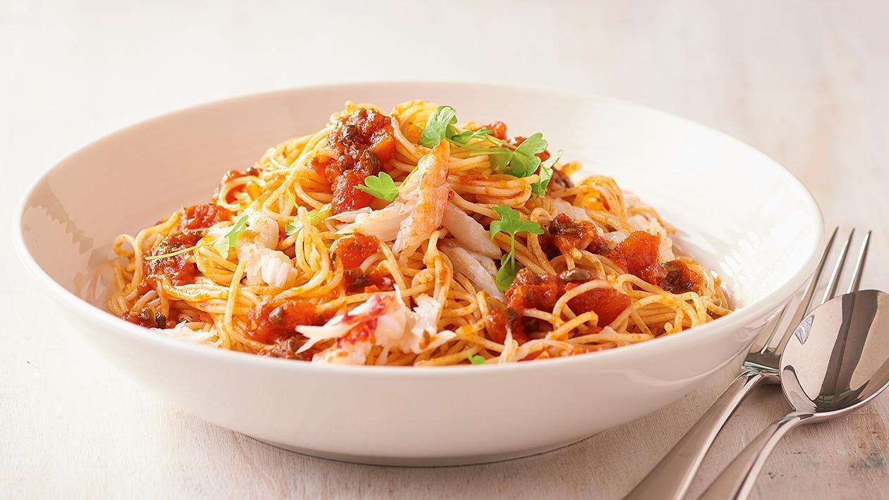 King Crab, Angel Hair Pasta  – Recipe