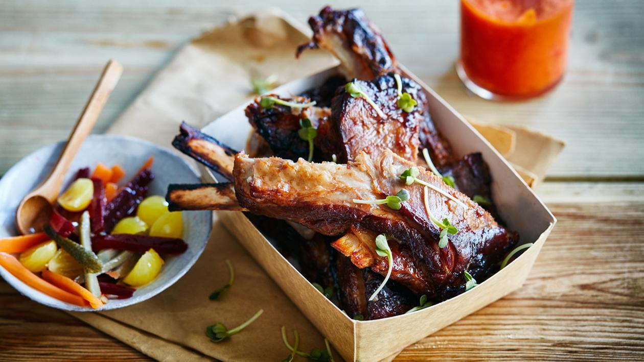 Boned Garlic Lamb with Sweet and Sour Red Onions Recipe recommend