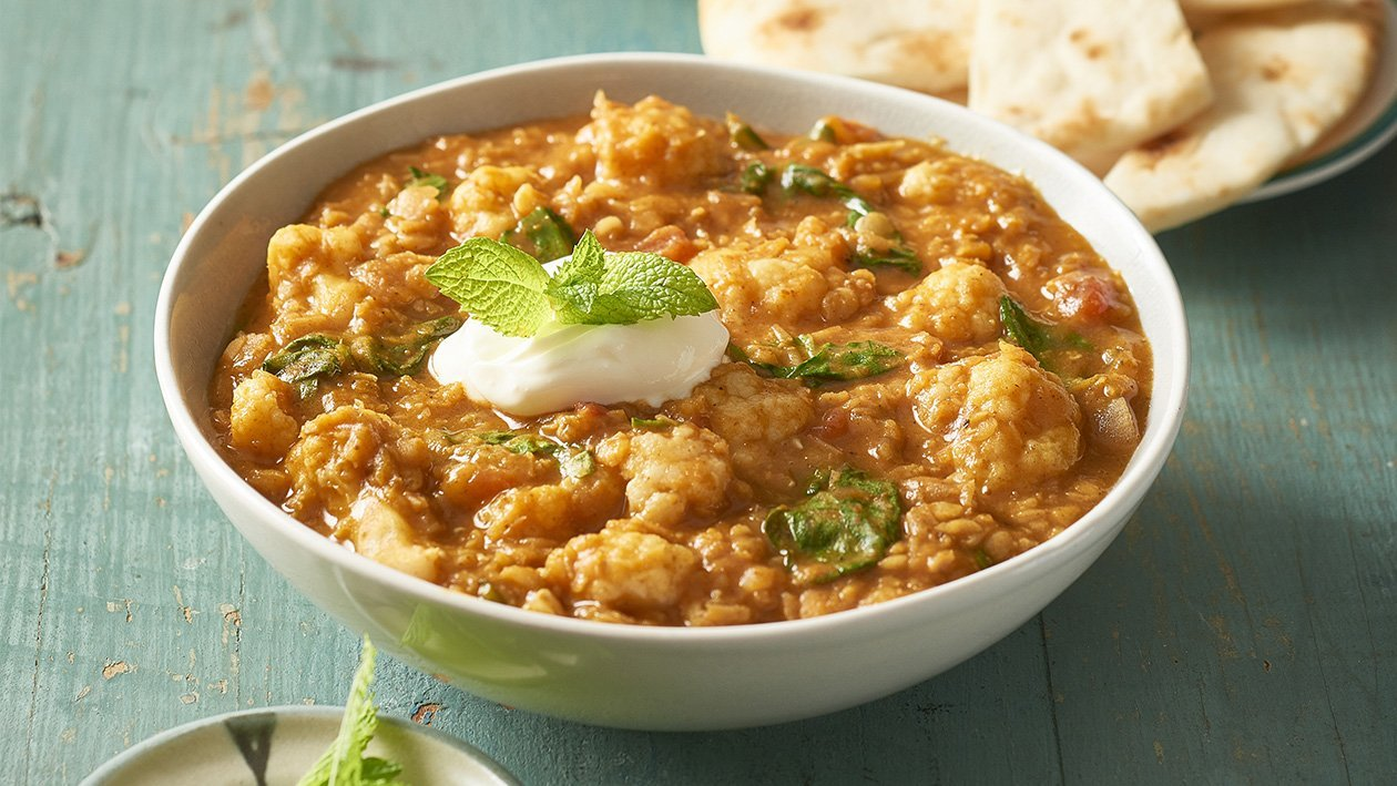 Lentil and Cauliflower Dhal – Recipe