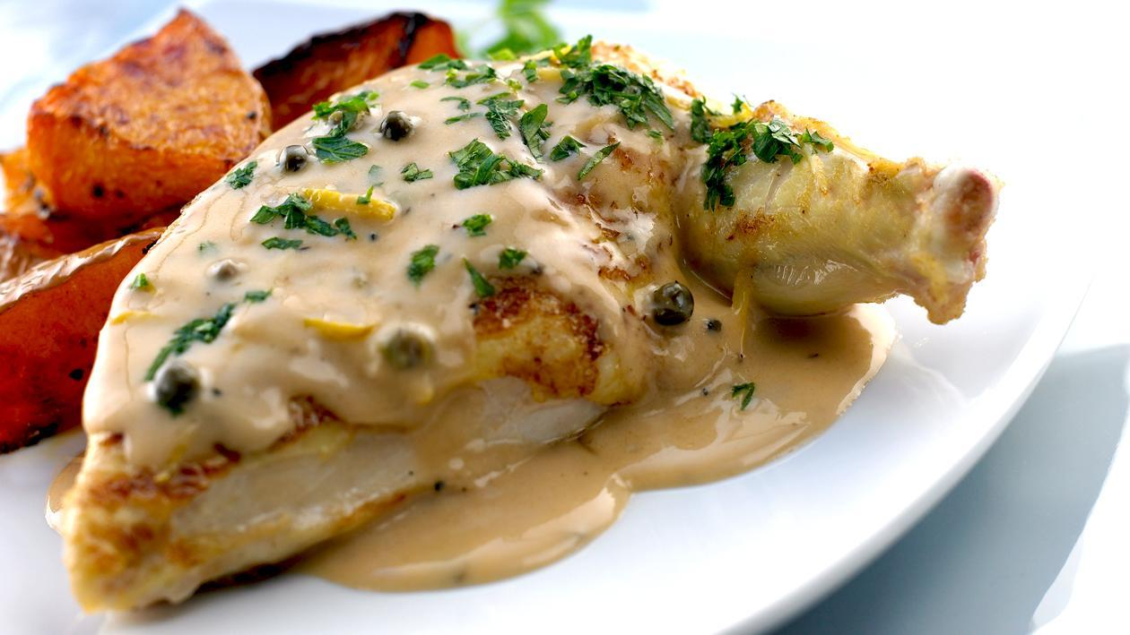 Oven Roasted Free Range Chicken with Peppercorn sauce – Recipe