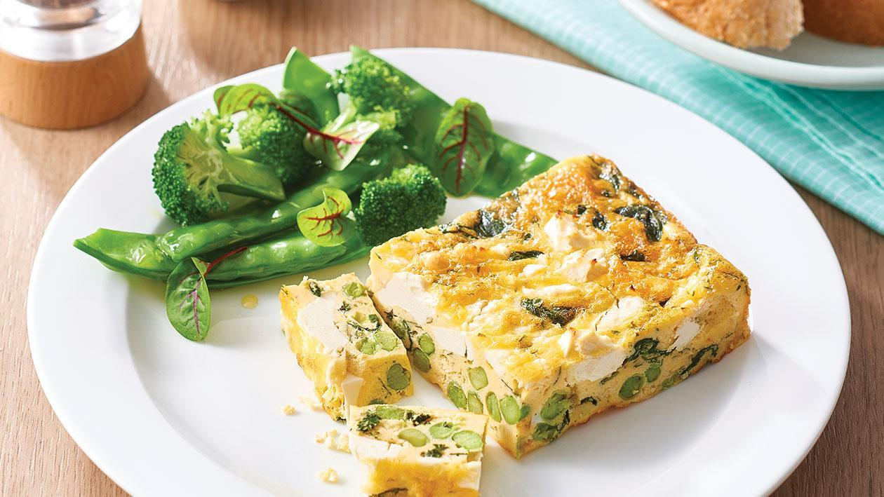 Pea, Feta and Spinach Frittata – Recipe