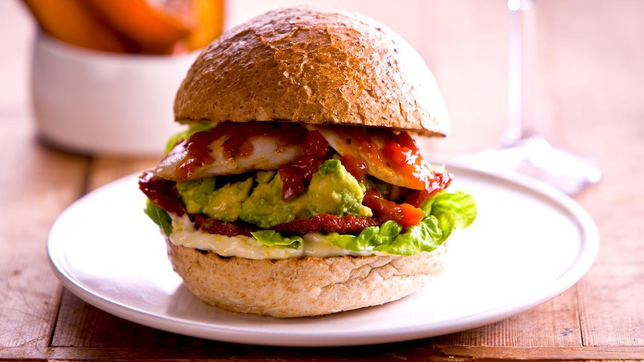 Peri Peri chicken avocado burger – Recipe