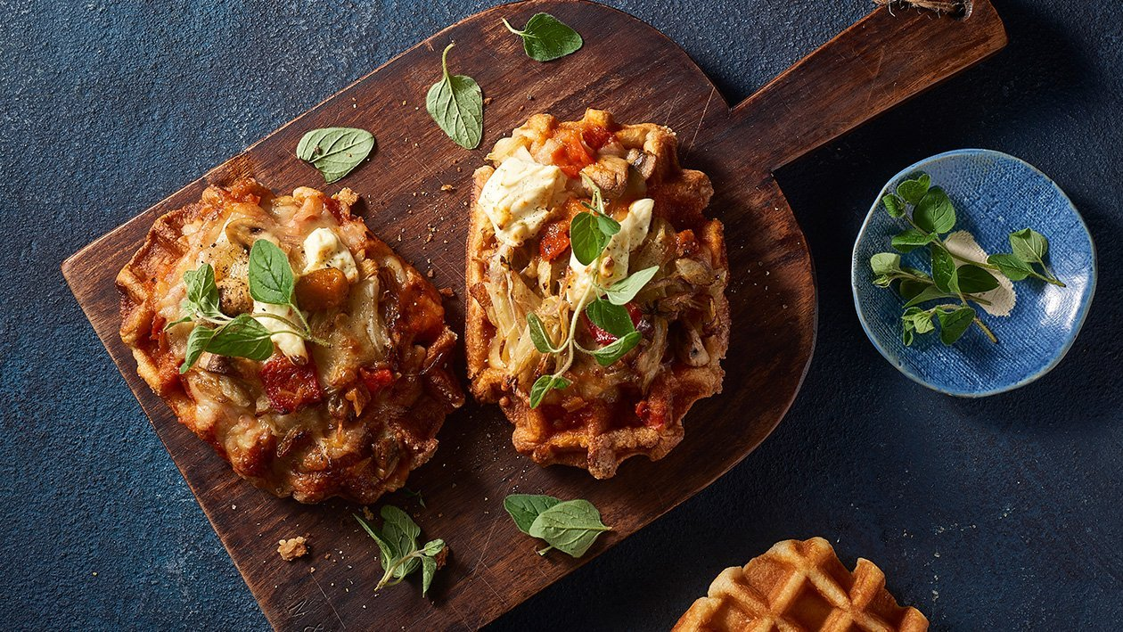 Philly Cheese Waffle Pizza – Recipe