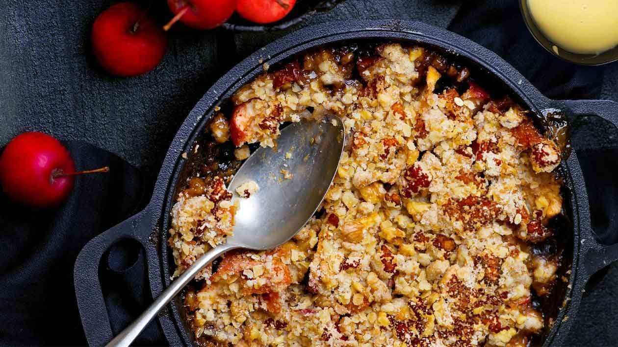 Red Love Apple Anzac Crumble – Recipe
