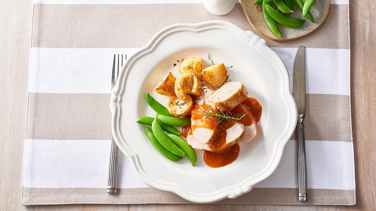 Roast Chicken, Chasseur Sauce – Recipe
