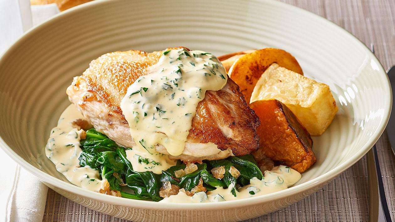 Roast Chicken Florentine – Recipe