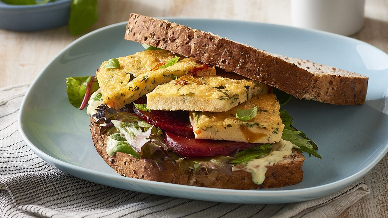Roast Vege Frittata Sandwich – Recipe