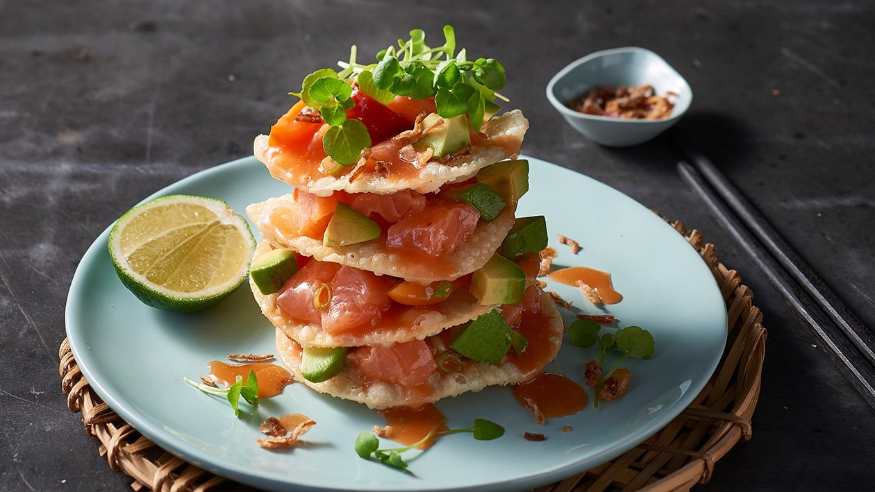 Salmon Wonton Stack – Recipe