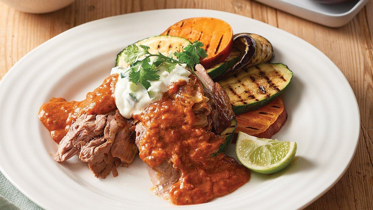 Slow Cooked Tandoori Lamb Shoulder with Tikka Masala Sauce – Recipe