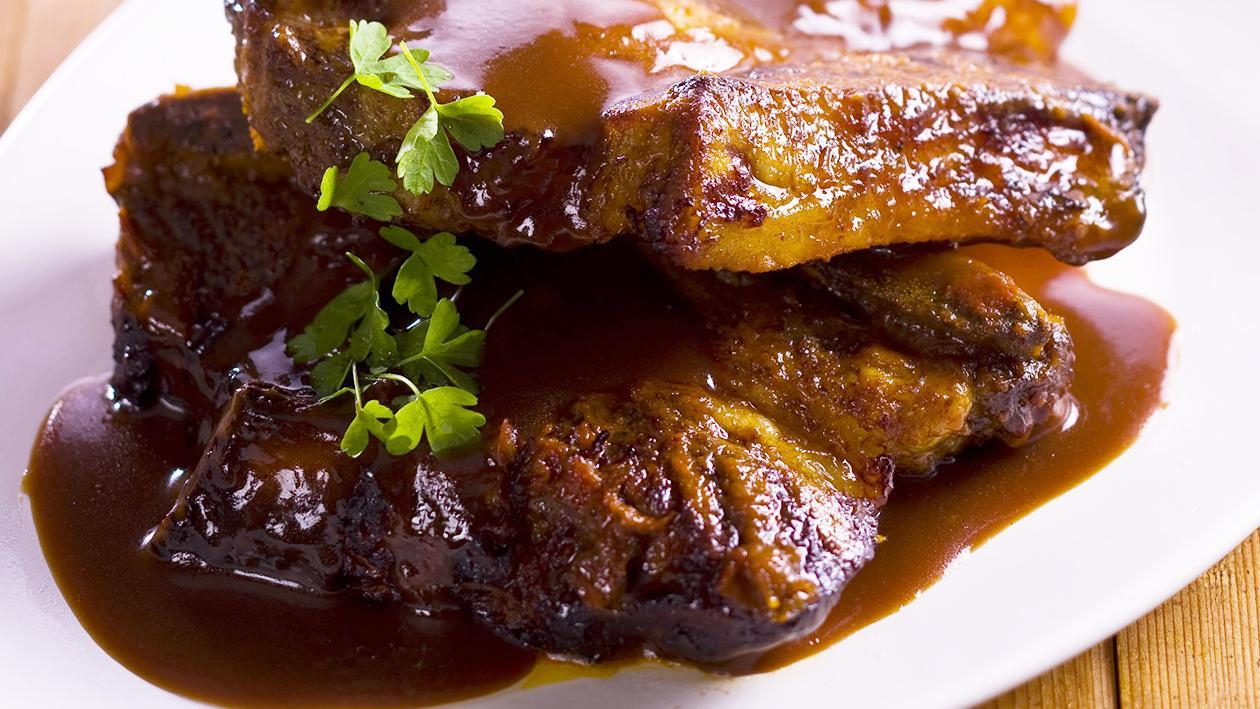 Spiced Beef Ribs with Bourbon Sauce – Recipe