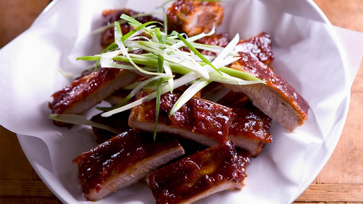 Sticky Chilli Jam Pork Ribs Recipe Unilever Food Solutions Babi Panggang Asian Fusion At Its Best Thai Meaty Goodness Balanced With A Beautiful Delicate Garnish Will Please Even The Most Discerning