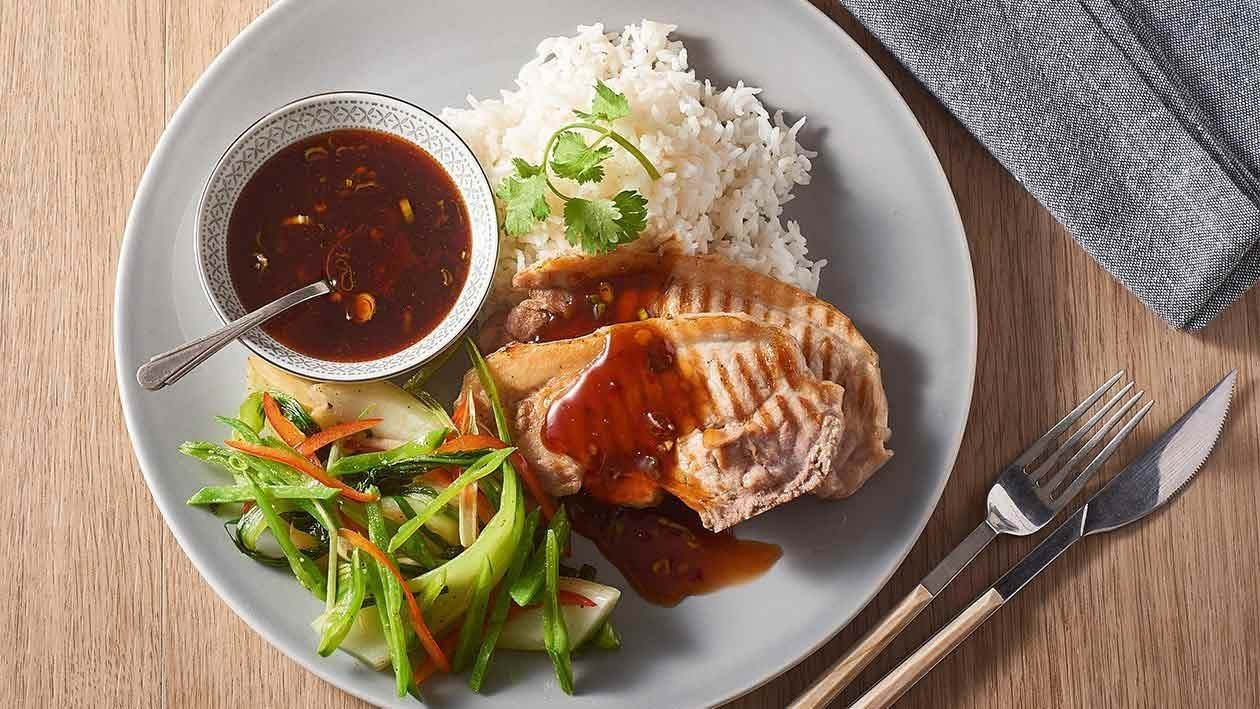 Thai Chilli Glazed Pork Loin Chop – Recipe