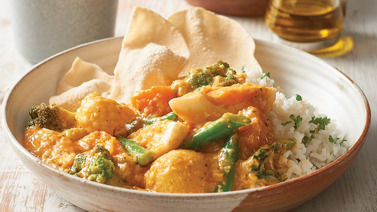 Vegetable and Egg Korma Curry – Recipe