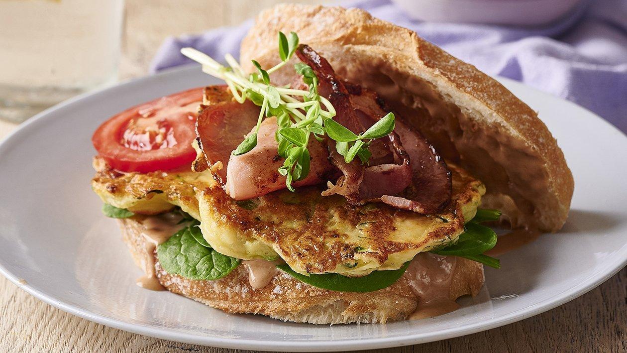 Zucchini and Ricotta Fritter Sandwich – Recipe