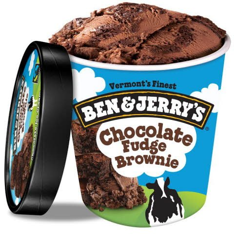 Ben & Jerry's Chocolate Fudge Brownie 8 x 473 ml -